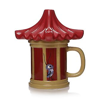 Disney Mulan 3D cup Cri-Kee Your Lucky Charm red, made of 100% ceramic, socket÷gen approx. 300 ml., in gift wrap.