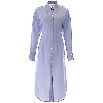 Acne Studios A20181aqo Women's Blue Cotton Dress
