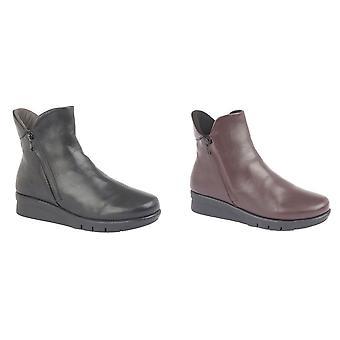 Cipriata Femme/Dames Cara Softie Cuir Twin Zip Ankle Boot