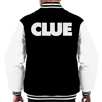 Hasbro Cluedo Clue Text Men's Varsity Jacket