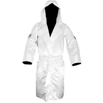 Cleto Reyes sateng boksing Robe med Hood - hvit