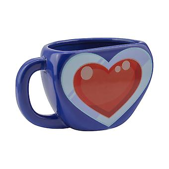 The Legend of Zelda Heart Container Shaped Mug Retro Gaming Ceramic Tea Coffee