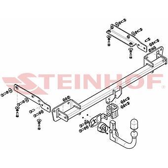 Automatyczny odłączany pasek holowniczy Steinhof (pionowy) dla Opla ASTRA K 2015