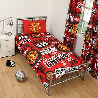 Manchester United Duvet Обложка Кровать Установить 135x200 50x75cm