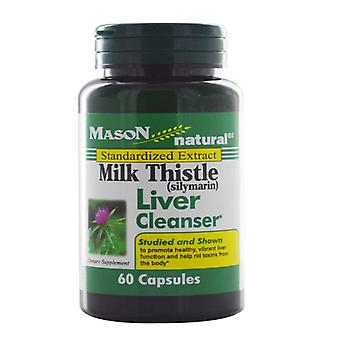 Mason natural milk thistle (silymarin) liver cleanser, capsules, 60 ea