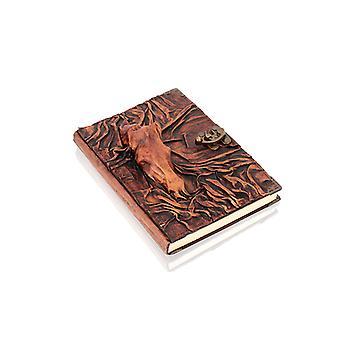 Ekte skinnbundet hestehodejournal notatbok av Woodland Leathers