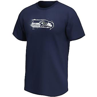 Seattle Seahawks NFL Fan T-Shirt Splatter Logo navy