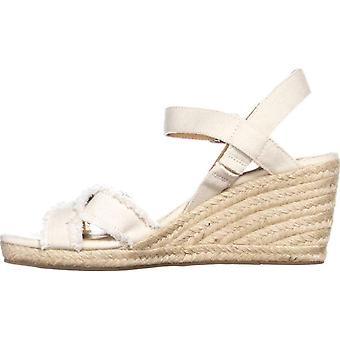 Lucky Brand Naisten Maraline kangas avoin toe rento Platform sandaalit