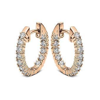 Diamond Earrings Earrings - 18K 750/- Red Gold - 0.54 ct. - 2A044R8-1