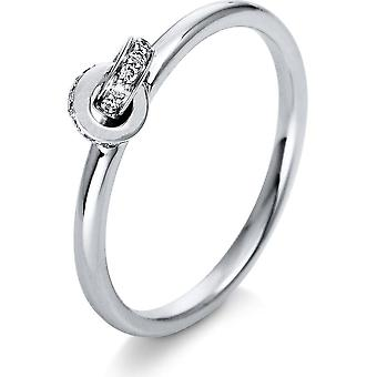 Diamond Ring Ring - 18K 750/- White Gold - 0.06 ct. - 1Q406W855 - Ring width: 55