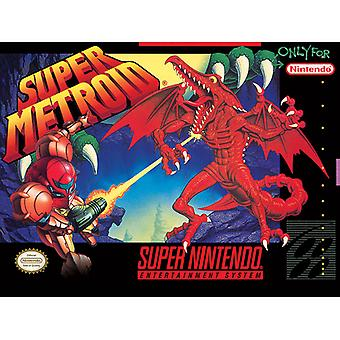 Super Nintendo Super Metroid Canvas Plate 30*40cm