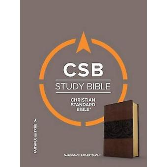 CSB Study Bible - Mahogany Leathertouch by Csb Bibles by Holman - 978