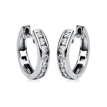 Diamond Earrings Earrings - 18K 750/- White Gold - 0.48 ct. - 2E827W8-3