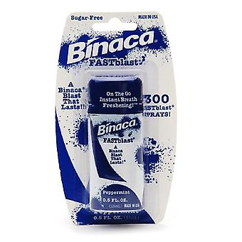 Binaca fastblast 300 breath spray, peppermint, 0.5 oz