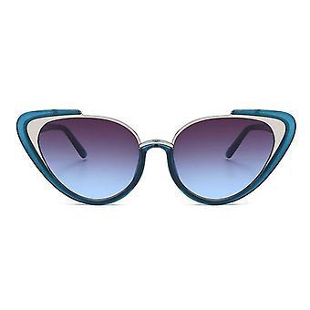 Stijlvolle 2020 Fashion Cat-Eye zonnebril blauw UV400
