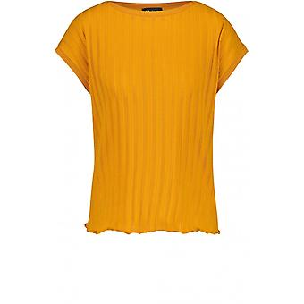 Taifun Mustard Jersey Stripe T-shirt