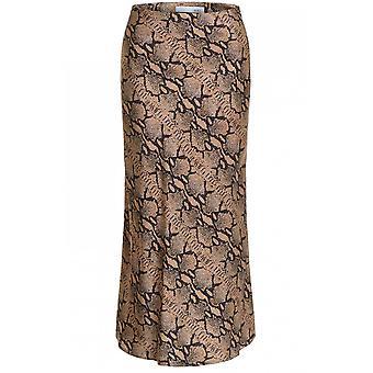 Oui Silky Snake Print Skirt