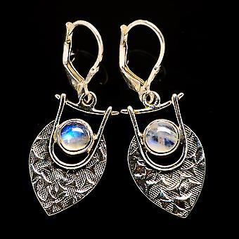 Rainbow Moonstone Earrings 1 1/2