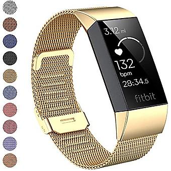 Voor Fitbit Charge 4 /Charge 3 Strap Milanese polsband Stainless Steel Magnetic[Small (5.3