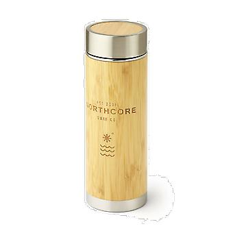 Northcore bamboo stainless steel thermos flask