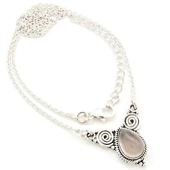 Rose Quartz Collier 925 Silver Sterling Silver Necklace Necklace Pink (MCO 09-07)