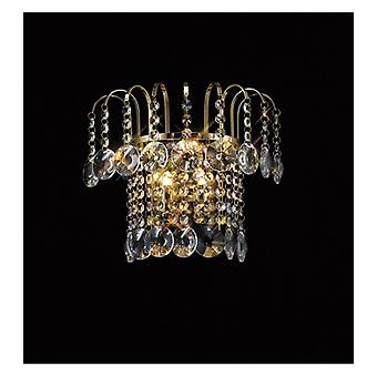 Rosina Wall Light With Switch 2 Bulbs Gold / Crystal