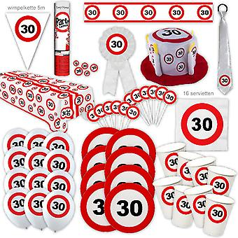 30th Birthday Party Package Traffic Sign Design Decoration Number 16 Party Party Box Party Package