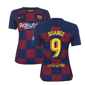 2019-2020 Barcelona Home Nike Ladies Shirt (SUAREZ 9)
