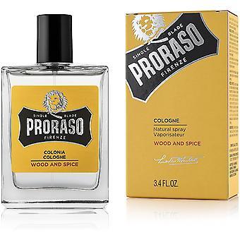 Proraso Wood and Spice Eau de Cologne 100ml EDC Spray