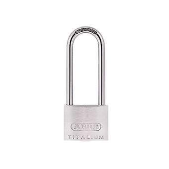 ABUS 64TI/50mm TITALIUM Padlock 80mm Long Shackle Carded ABU64TI5080C