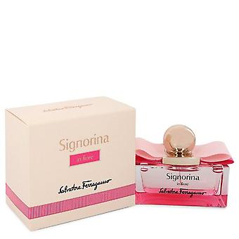 Signorina In Fiore Eau De Toilette Spray By Salvatore Ferragamo 1.7 oz Eau De Toilette Spray