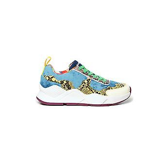 Desigual Hydra Hybrid Sneakers Pumps Denim with Reptile Print