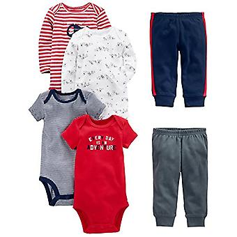 Simple Joys by Carter's Baby Boys 6-Piece Little Character Set, Red/Navy Bear...