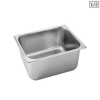 SOGA Gastronorm GN Pan Full Size 1/2 GN Pan 20cm Deep Stainless Steel Tray