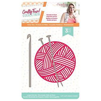 Crafter's Companion Crafty Fun Needles & Yarn Die