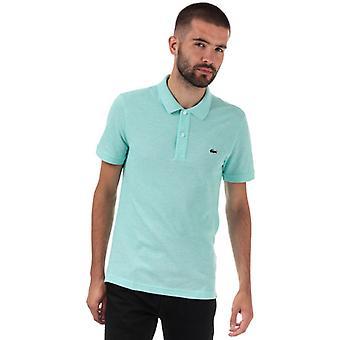 Men's Lacoste Slim Fit Petit Piqué Polo Shirt em Verde