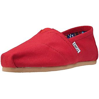Toms Classic Womens Slip On Shoes in Red