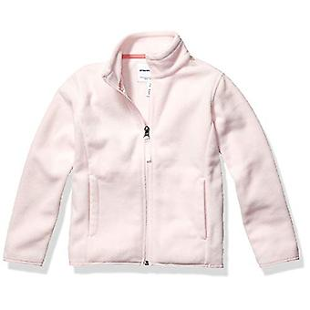 Essentials Girl's Full-Zip Polar Fleece Jacket, Light Pink, Small