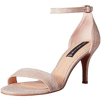 STEVEN by Steve Madden Womens Viienna Leather Open Toe Special Occasion Ankle...