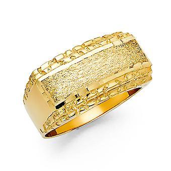 14k Sarı Altın Erkek Yüzük Boy 10 Erkekler için Takı Hediyeler - 7.2 Gram