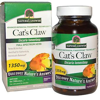 Nature's Answer, Cat's Claw, 1,350 mg, 90 Vegetarian Capsules