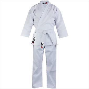 Blitz sports adult cotton student karate suit - white