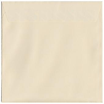 Cream Peel/Seal 220mm Square Coloured Cream Envelopes. 120gsm Luxury FSC Certified Paper. 220mm x 220mm. Wallet Style Envelope.