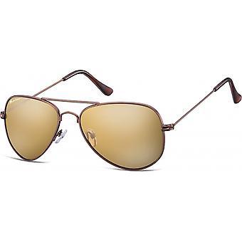 "Sunglasses Unisex Aviator Brown (""ms94d"")"