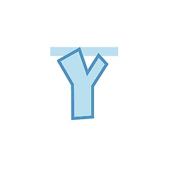 Linking Banner 20cm Baby Blue Letter - Y Party Decoration