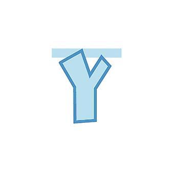 Συνδέοντας banner 20cm μωρό μπλε γράμμα - Y διακόσμηση κόμμα