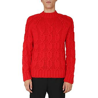 Saint Laurent 632017yark26442 Men's Red Wool Sweater