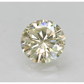 Certified 0.71 Carat I VS1 Round Brilliant Enhanced Natural Diamond 5.82mm 3EX