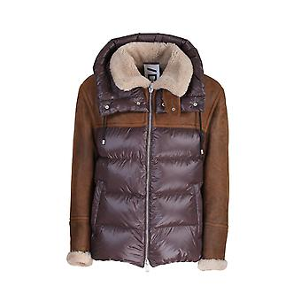 Drome Drm5049d1729m Homme's Brown Nylon Down Jacket