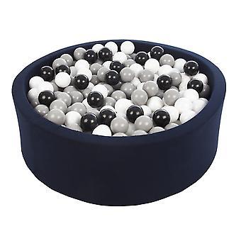 Golyósvere kék, 450 golyóval 90 cm fekete, fehér és szürke